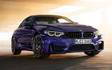 BMW M4 Edition M Heritage official press - blue
