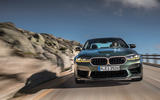 88 BMW M5 CS 2021 official reveal on road nose