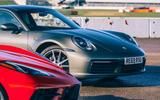 Corvette C8 vs Porsche 911 UK - Porsche nose