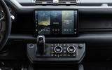 88 Land Rover Defender V8 2021 official images infotainment