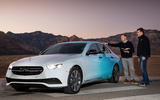 Mercedes-Benz E-Class 2020 prototype ride - Greg Kable pointing