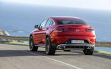 Mercedes GLC Coupe 2019 press - on the road rear