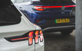 88 Mustang Mach e ID 4 Polestar 2 triple test 2021 Mustang rear lights