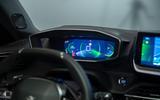 Peugeot e-2008 reveal studio - instruments