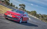 2020 Volkswagen Golf GTI first ride - track front