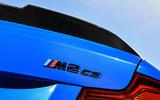 BMW CS 2020 official press images - rear badge