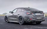 89 BMW i4 2021 prototype drive static