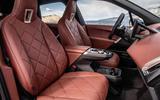 89 BMW iX prototype ride 2021 cabin