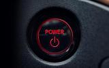 Honda e 2019 prototype drive - start button