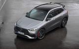 Mercedes-AMG GLA 45 S 2020 official press images - three quarters