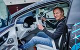 89 Mercedes Benz EQS prototype ride 2021 Kable front seat