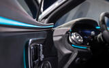 89 Mercedes EQS official reveal images ambient lighting