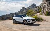Mercedes-Benz GLB 2019 official reveal - cornering side