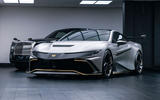 Naran Automotive hypercar official reveal - in garage with Rolls Royce