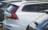 89 PHEV wagons triple test 2021 V60 rear end