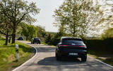 89 Porsche Macan GTS 2021 prototype drive on road rear
