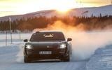 Porsche Taycan prototype ride 2019 - sunset front