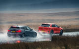 BMW M135i and VW T-Roc R - tracking side
