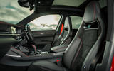 Alfa Romeo Stelvio Quadrifoglio 2020 UK first drive review - front seats