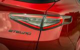 Alfa Romeo Stelvio Quadrifoglio 2020 UK first drive review - rear lights