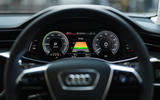 9 Audi A6 TFSIe 2021 UK first drive review instruments