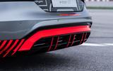 Audi RS E-tron GT 2021 prototype drive - rear diffuser