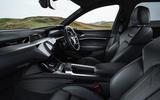 Audi E-tron Sportback 55 2020 UK first drive review - cabin