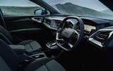 9 Audi Q4 etron 2021 UK FD steering wheel