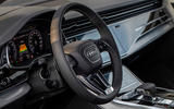 Audi Q7 TFSI e 2019 first drive review - steering wheel