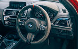 Birds BMW m140i 2020 UK first drive review - steering wheel