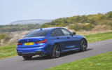 BMW 3 Series 320d 2019 UK first drive review - on the road rear