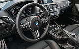 BMW M2 Competition 2018 first drive review steering wheel