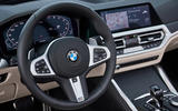 9 BMW M440i Convertible 2021 first drive review steering whel