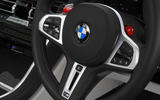 BMW M8 Competition Coupe 2020 UK first drive review - steering wheel