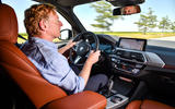 BMW X3 xDrive30e 2020 first drive review - Greg Kable driving