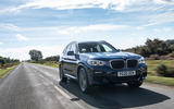 BMW X3 xDrive30e 2020 UK first drive review - on the road front