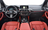 BMW X3 M Competition 2019 first drive review - dashboard