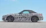 BMW Z4 prototype drive 2018 roof up