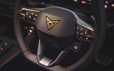 9 Cupra Formentor VZ2 2021 UK first drive steering wheel