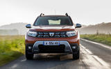 9 Dacia Duster 2021 facelift first drive on road nose
