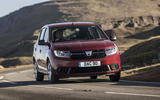 Dacia Sandero 2019 UK first drive review - cornering front