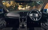Honda Civic saloon 2018 UK first drive review cabin