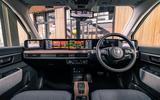Honda e 2020 UK first drive review - dashboard