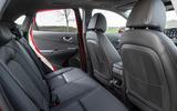 9 Hyundai Kona 1.6 hybrid 2021 UK first drive review rear seats