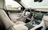 9 Jaguar F Pace P400e 2021 uk first drive review dashboard