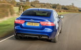 Jaguar XE 20t 2018 UK first drive review - on the road rear