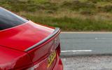 Jaguar XE 300 Sport 2018 UK first drive review spoiler