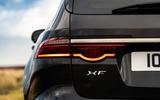 9 Jaguar XF Sportbrake 2021 UK first drive review rear lights