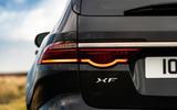 9 Jaguar XF Sportbrake P250 2021 UK review rear lights