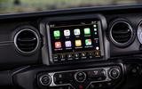 Jeep Wrangler 2019 UK first drive review - infotainment carplay